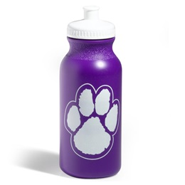 Paw Water Bottle - Purple/White