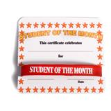 Mini Certificate/Wristband Set - Student of the Month/Orange Stars