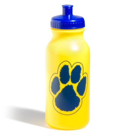 Paw Water Bottle - Gold/Blue
