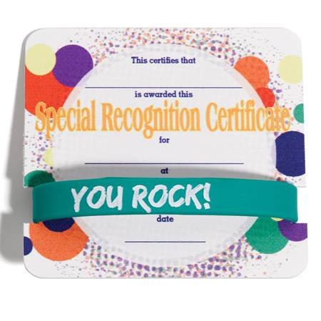 wristband mini certificate award set special recognition anderson s