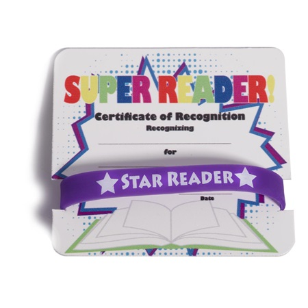 Mini Certificate/Wristband Set - Super Reader