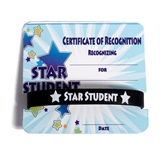 Mini Certificate/Wristband Set - Star Student Galaxy