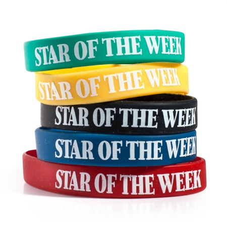 Star of the Week Wristband Assortment, 25/pkg