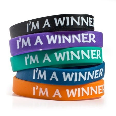 I'm A Winner Wristband Assortment, 25/pkg