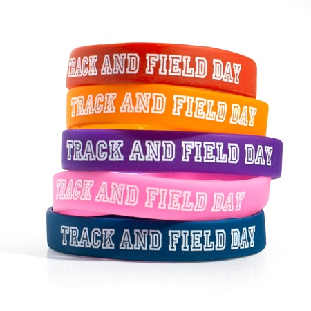 Track and Field Day Wristband Assortment, 25/pkg