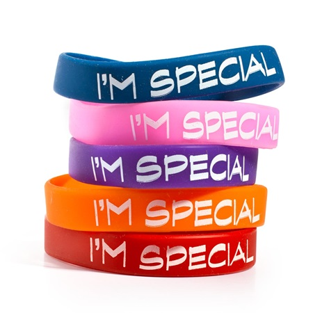 """I'm Special"" Silicone Wristband Assortment, 25/pkg"