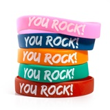 You Rock! Wristband Assortment, 25/pkg