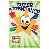 Pin Card with Pin Set - Star Attendance