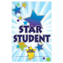 Pin Card with Pin Set - Star Student/Starburst