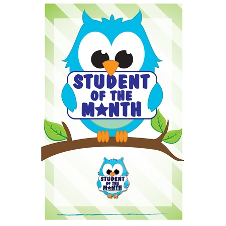 Pin Card with Pin Set - Student of the Month Owl
