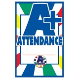 Pin Card with Pin Set - A+ Attendance