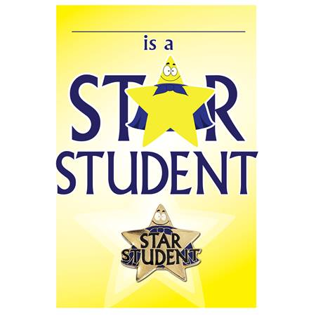 Pin Card with Pin Set - Star Student
