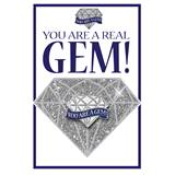 Pin Card with Pin Set - You Are A Real Gem