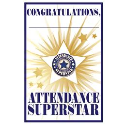Pin Card with Pin Set - Attendance Superstar