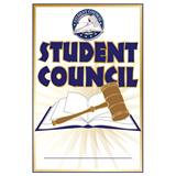 Pin Card with Pin Set - Student Council/Gavel