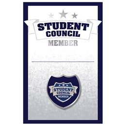 Pin Card with Pin Set - Student Council/Blue Shield