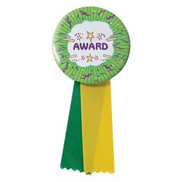 Button With Ribbon - Award