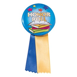 Button With Ribbon - Colorful Honor Roll