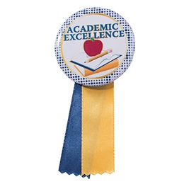 Button With Ribbon - Academic Excellence