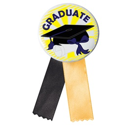 Button With Ribbon - Graduation