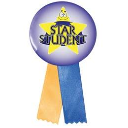Button With Ribbon - Star Student