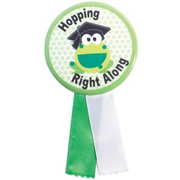 Button With Ribbon - Graduation/Frog