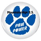 Custom Button - Blue Paw Power