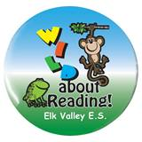 Custom Button - Wild About Reading