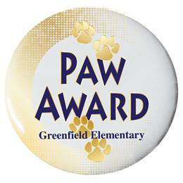 Custom Button - Paw Award