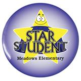 Custom Button - Star Student With Gold Stars