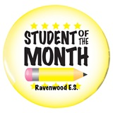 Custom Button - Student of the Month Pencil