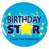 Custom Button - Birthday Star