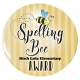 Custom Button - Spelling Bee Award