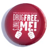 Custom Button - Drug Free, That's Me!