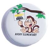 Custom Button - Don't Monkey Around with Drugs