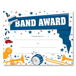 Band Award Certificates Pack