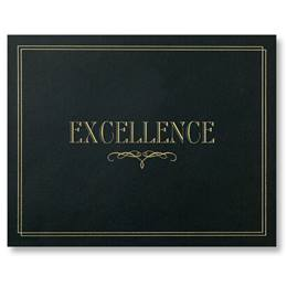 Certificate Holder - Black and Gold Excellence