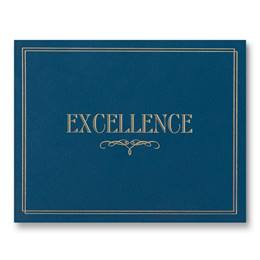 Certificate Holder - Blue Excellence