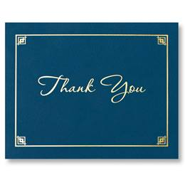 Certificate Holder - Blue Thank You