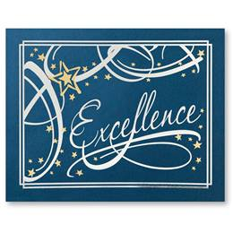 Standing Certificate Holder - Blue Excellence