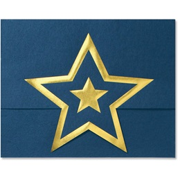 Standing Certificate Holder - Blue with Gold Star