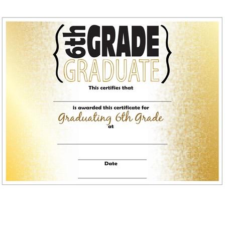 6th Grade Graduation Certificates – Graduation Certificate