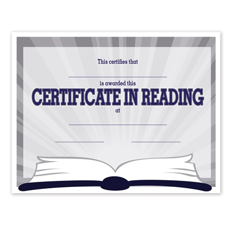 Full-color Reading Certificate