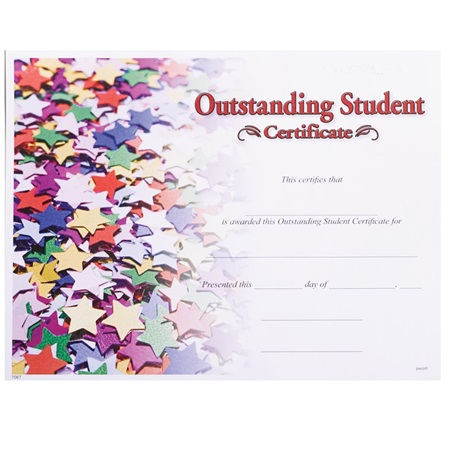 Full-color Outstanding Student Certificates