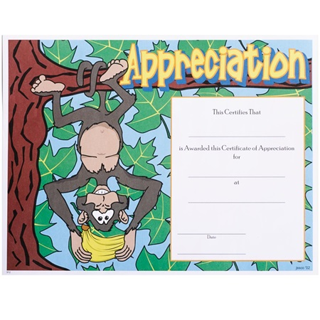 Full-color Appreciation Certificates