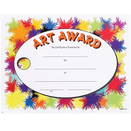 Full-color Art Certificates | Anderson's