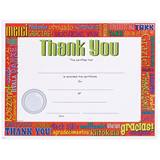 Full-color Thank You Certificates