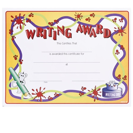 Full-color Writing Certificates