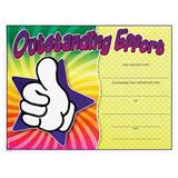Full-color Outstanding Effort Certificates