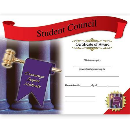 Photo Certificates With Pins - Student Council